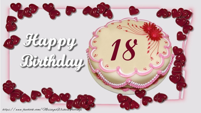 Marvelous Happy Birthday 18 Years Messageswishesgreetings Com Funny Birthday Cards Online Fluifree Goldxyz