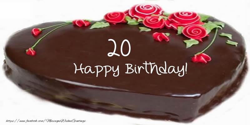 20 Years Happy Birthday Cake Messageswishesgreetings