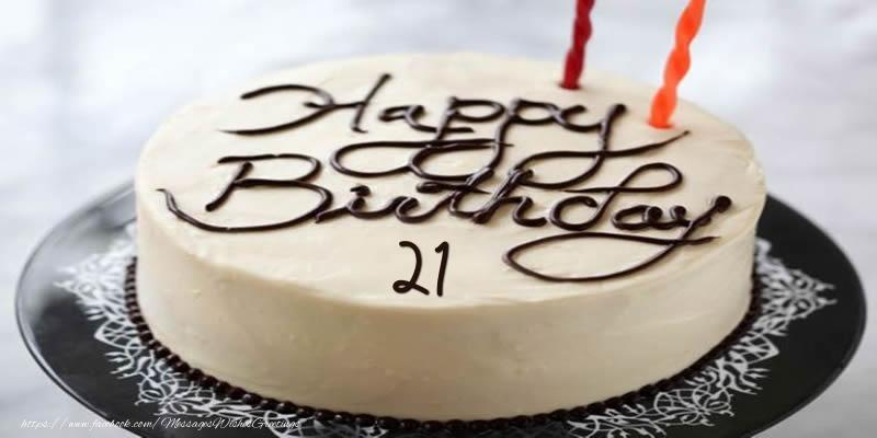Happy Birthday 21 years torta