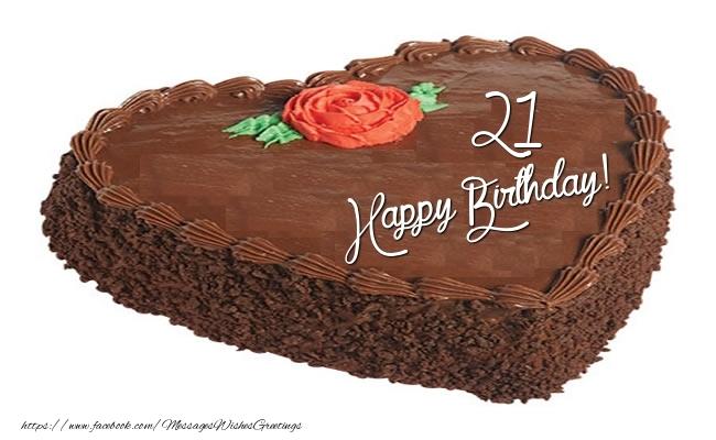 Happy Birthday Cake 21 years