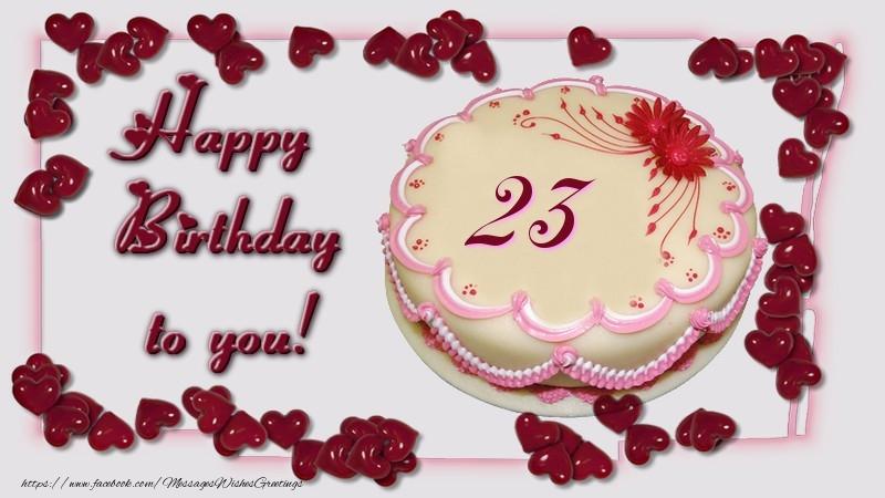 Happy birthday cake 23 years messageswishesgreetings happy birthday to you 23 years thecheapjerseys Gallery