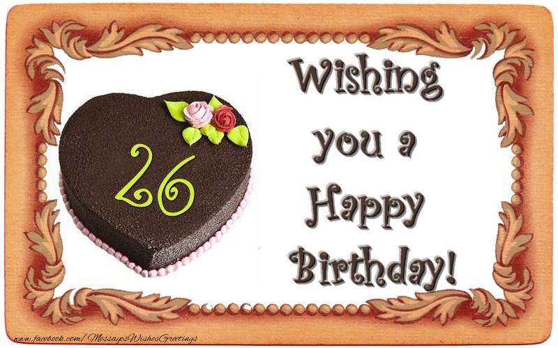 26 Years Happy Birthday Cake Messageswishesgreetings Com Happy Birthday Wishes For 26 Year