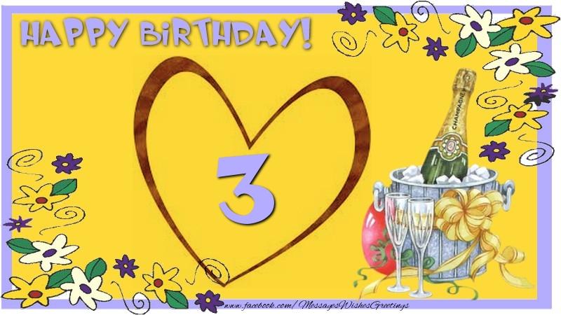 Happy Birthday 3 years