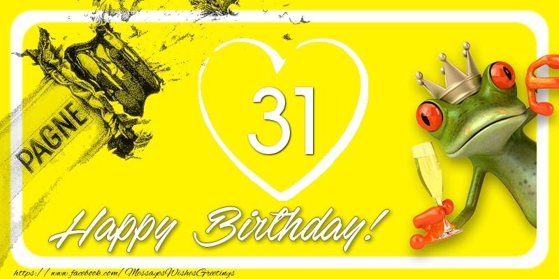 Happy Birthday, 31 years!