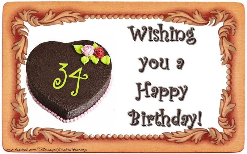 Wishing You A Happy Birthday 34 Years