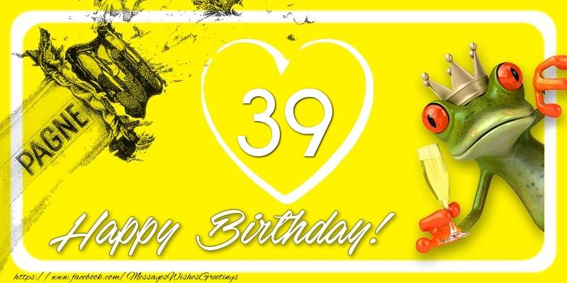 Happy Birthday, 39 years!