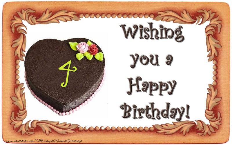 Wishing you a Happy Birthday! 4 years