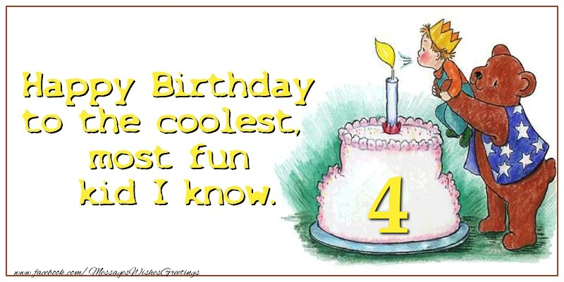Happy birthday 4 years