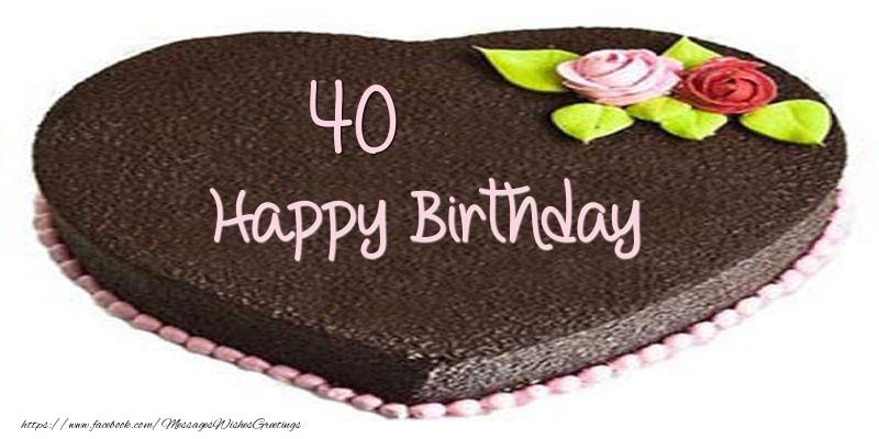 40 Years Happy Birthday Cake