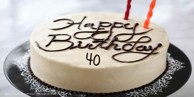 Happy Birthday 40 years torta