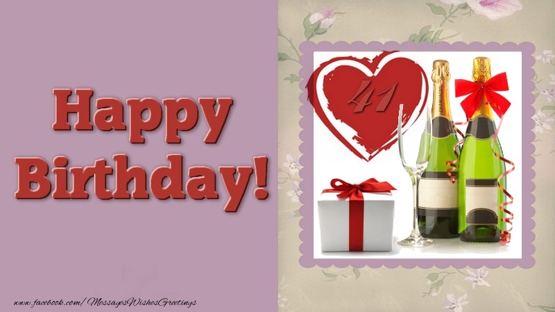 Happy Birthday 41 years