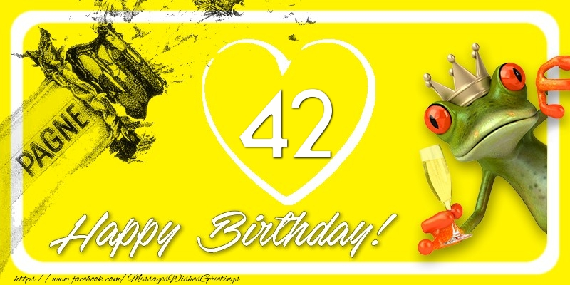 Happy Birthday, 42 years!