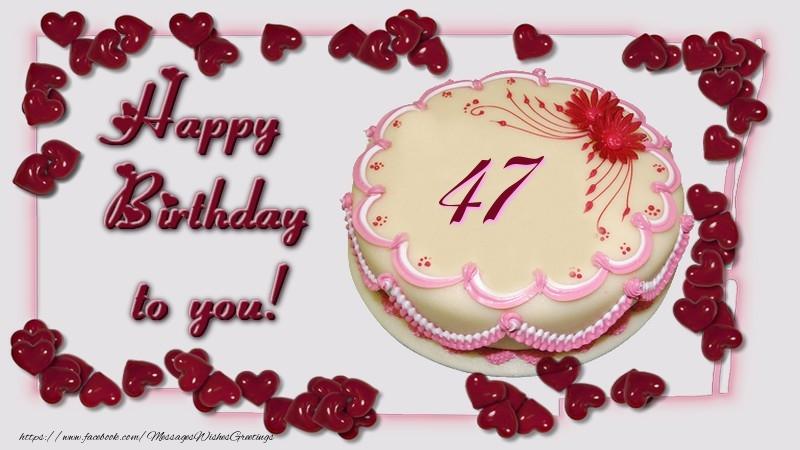 47 Years Happy Birthday Cake Messageswishesgreetings
