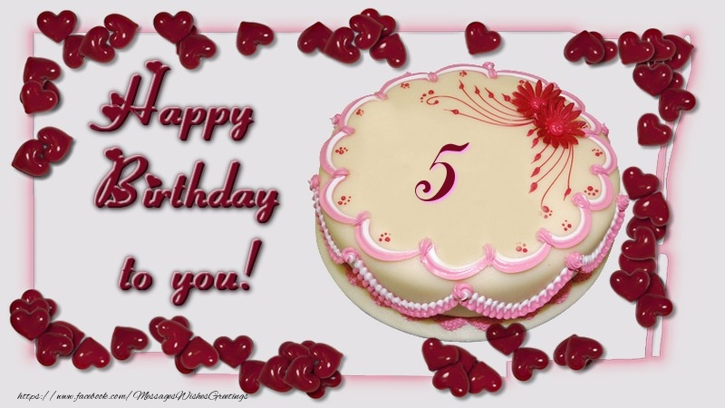 Happy Birthday to you! 5 years