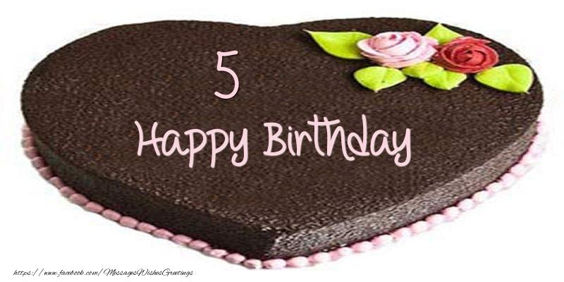 5 years Happy Birthday Cake