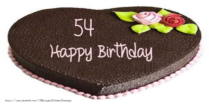 54 years Happy Birthday Cake