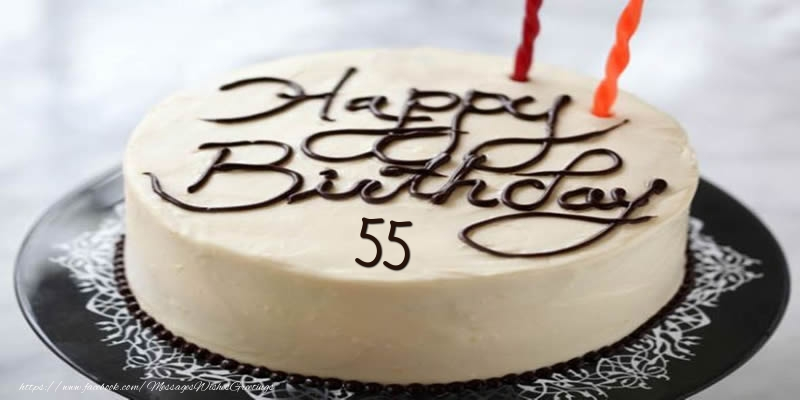 Happy Birthday 55 years torta
