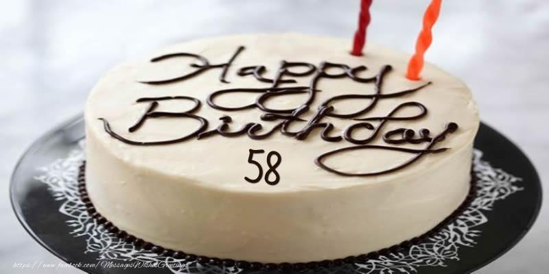 Happy Birthday 58 years torta