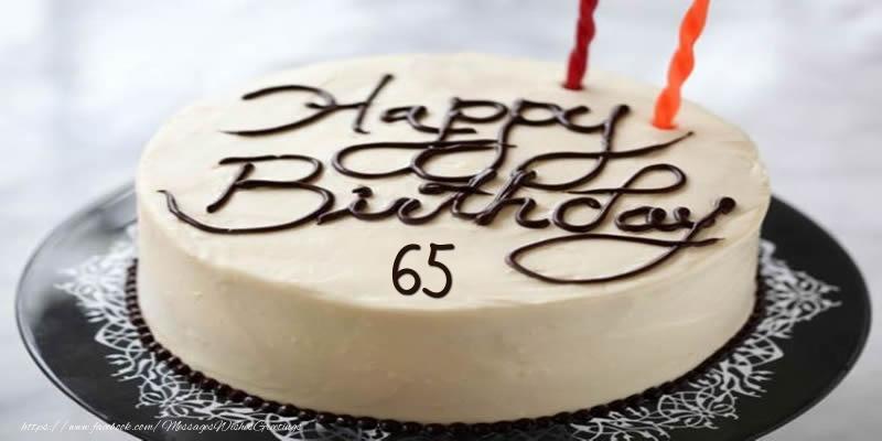 Happy Birthday 65 years torta