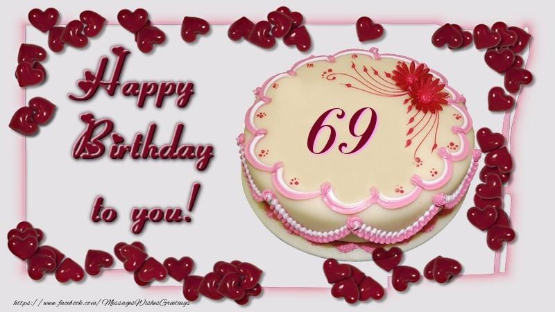 Happy Birthday Cake 69 Years Messageswishesgreetings