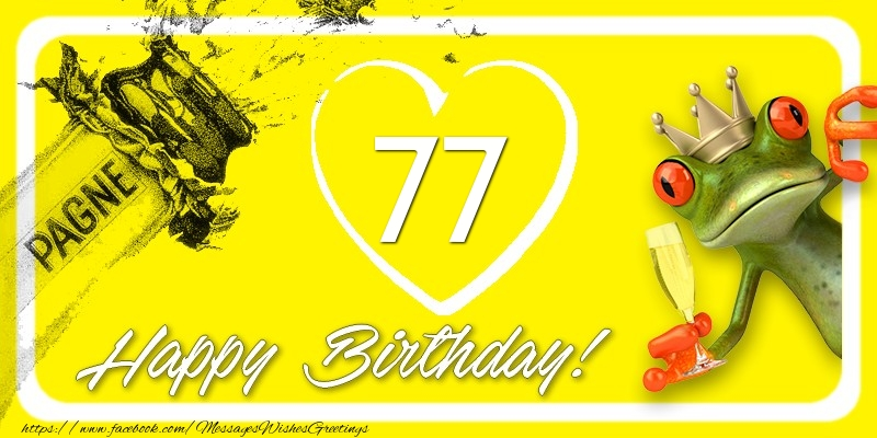 Happy Birthday, 77 years!