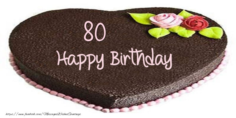 80 years Happy Birthday Cake