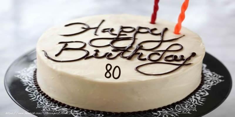 Happy Birthday 80 years torta