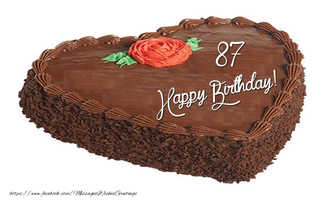 87 Years Happy Birthday Cake Messageswishesgreetings Com