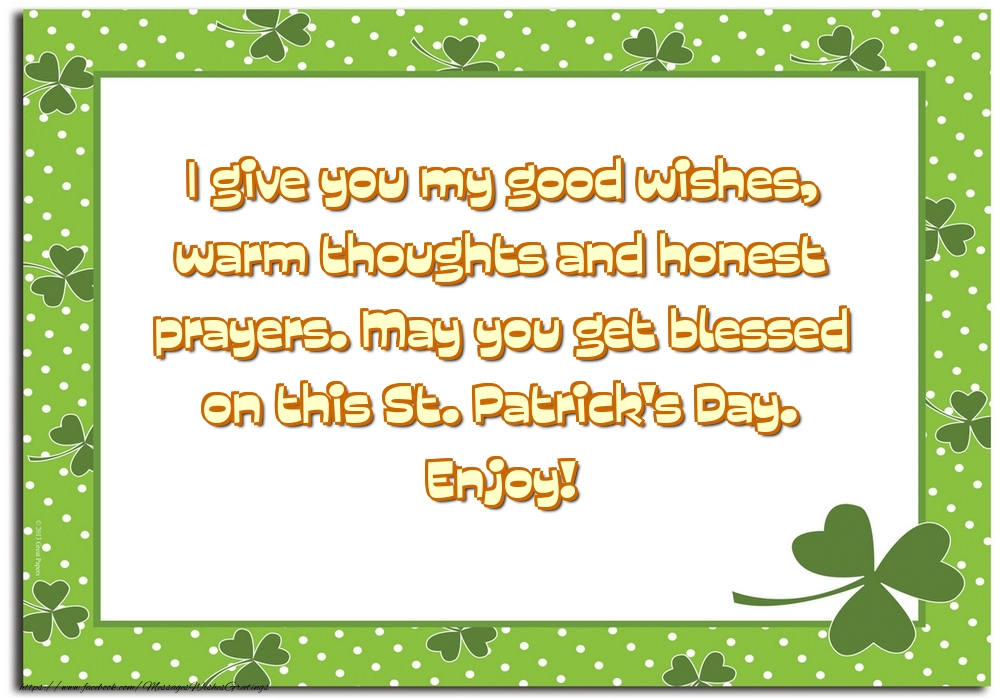 Greetings Cards for Saint Patrick's Day - St. Patrick's Day. Enjoy!