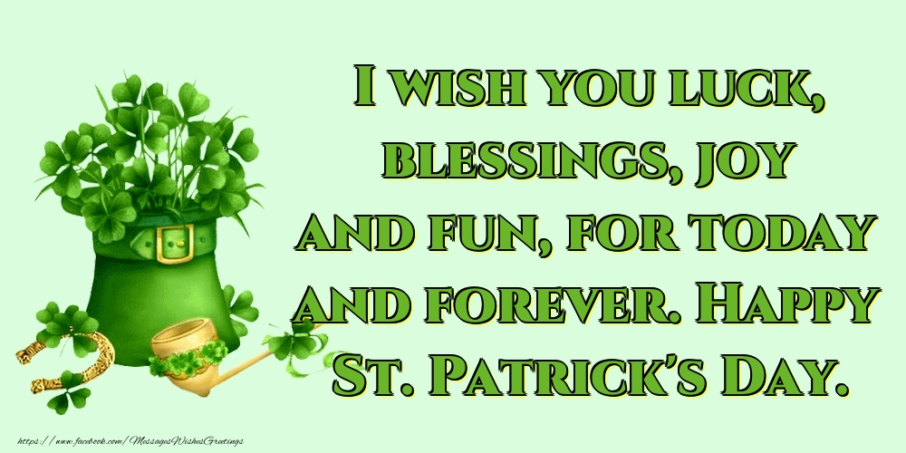 Greetings Cards for Saint Patrick's Day - Happy St. Patrick's Day.
