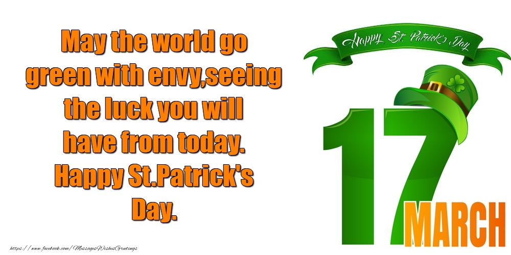 Greetings Cards for Saint Patrick's Day - Happy St.Patrick's Day.