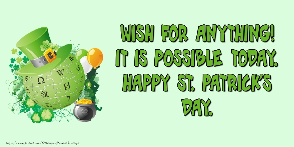 Greetings Cards for Saint Patrick's Day - Happy St. Patrick's Day. - messageswishesgreetings.com