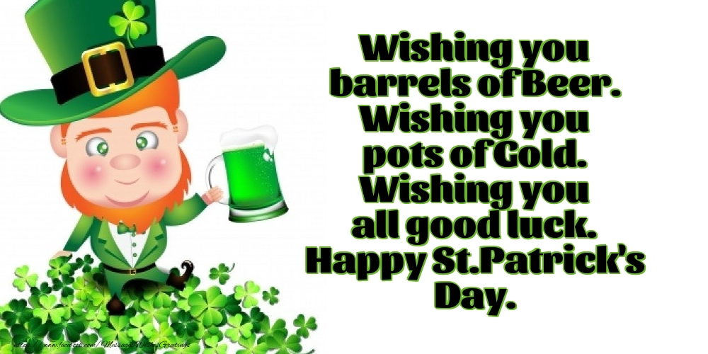 Greetings Cards for Saint Patrick's Day - Happy St.Patrick's Day. - messageswishesgreetings.com