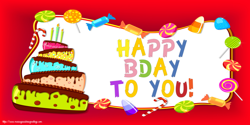 Greetings Cards for Birthday - Happy Bday to you! - messageswishesgreetings.com