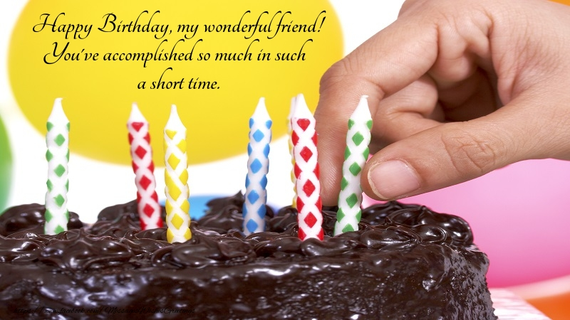 Popular greetings cards for Birthday - Happy Birthday, my wonderful friend!