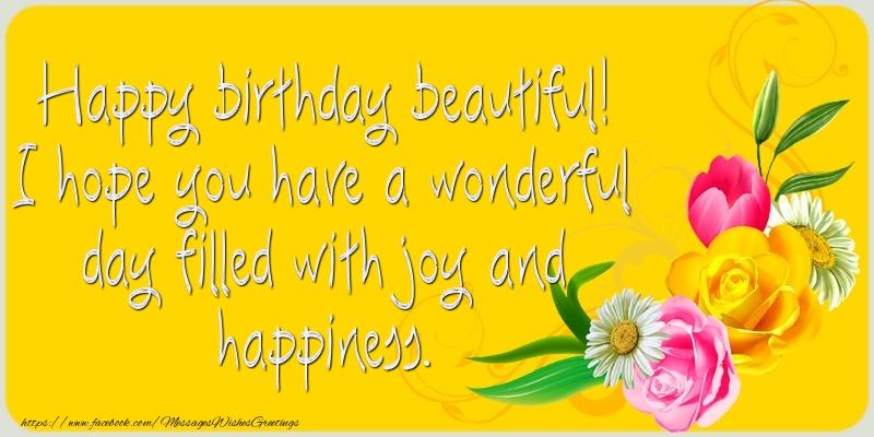 Greetings Cards for Birthday - Happy birthday beautiful!
