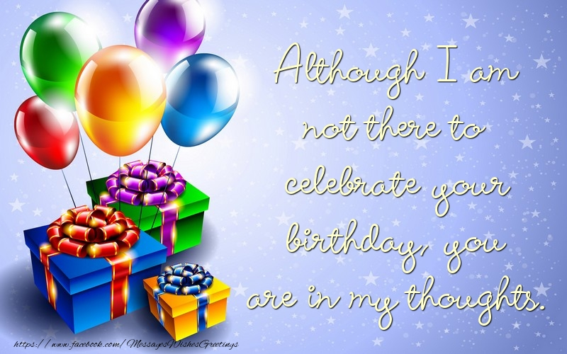 Popular greetings cards for Birthday - You are in my thoughts.