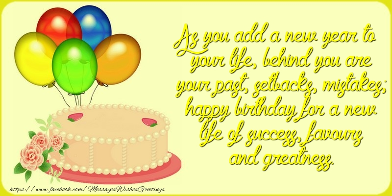 Greetings Cards for Birthday - As you add a new year to your life