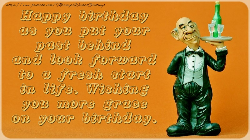 Greetings Cards for Birthday - Wishing you more grace on your birthday.