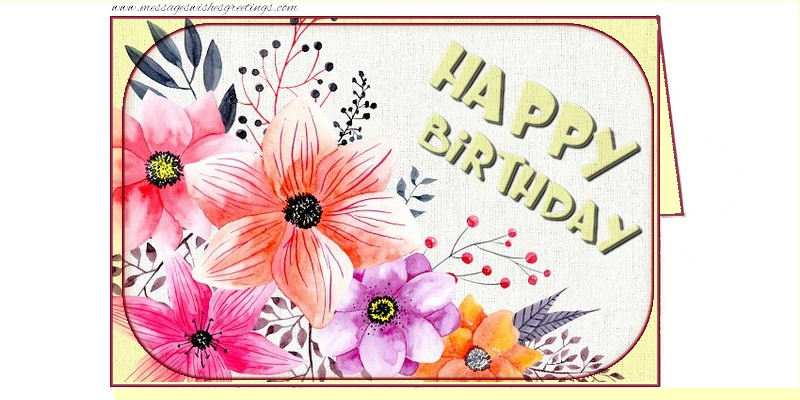 Popular greetings cards for Birthday - Happy Birthday