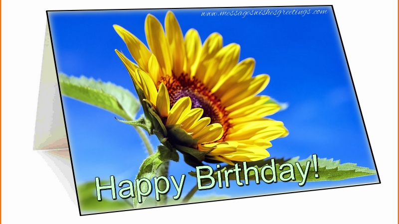 Popular greetings cards for Birthday with flowers - Happy Birthday!