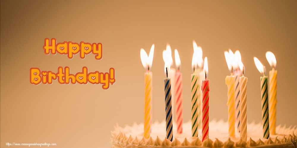 Popular greetings cards for Birthday with cake - Happy Birthday!