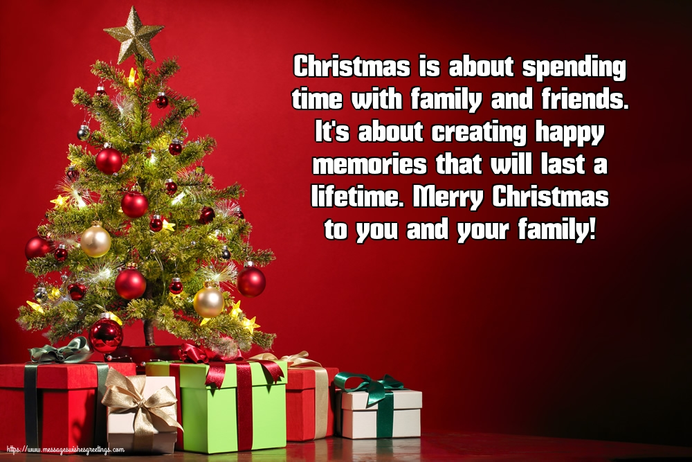 Greetings Cards for Christmas - Merry Christmas to you and your family!