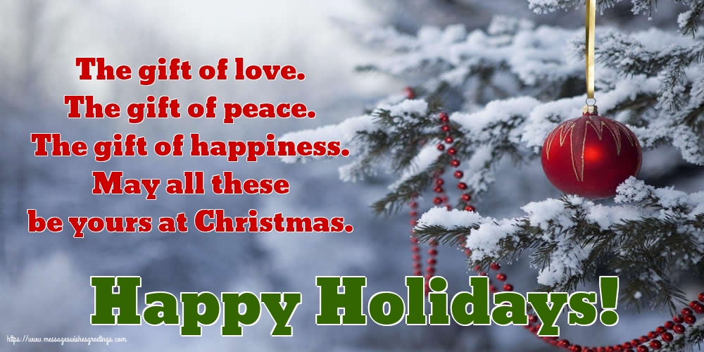 Greetings Cards for Christmas - Happy Holidays!
