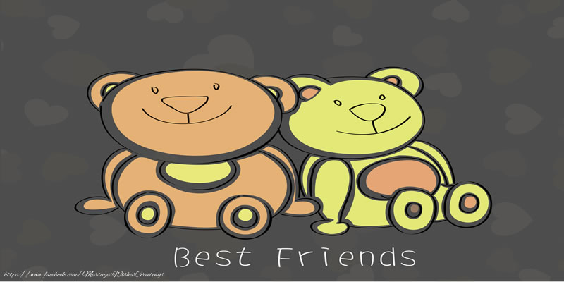 Greetings Cards Friendship - Best Friends