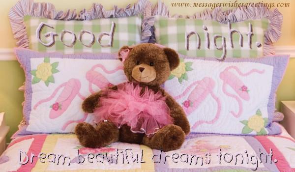 Greetings Cards for Good night - Good night! Dream beautiful dreams tonight.