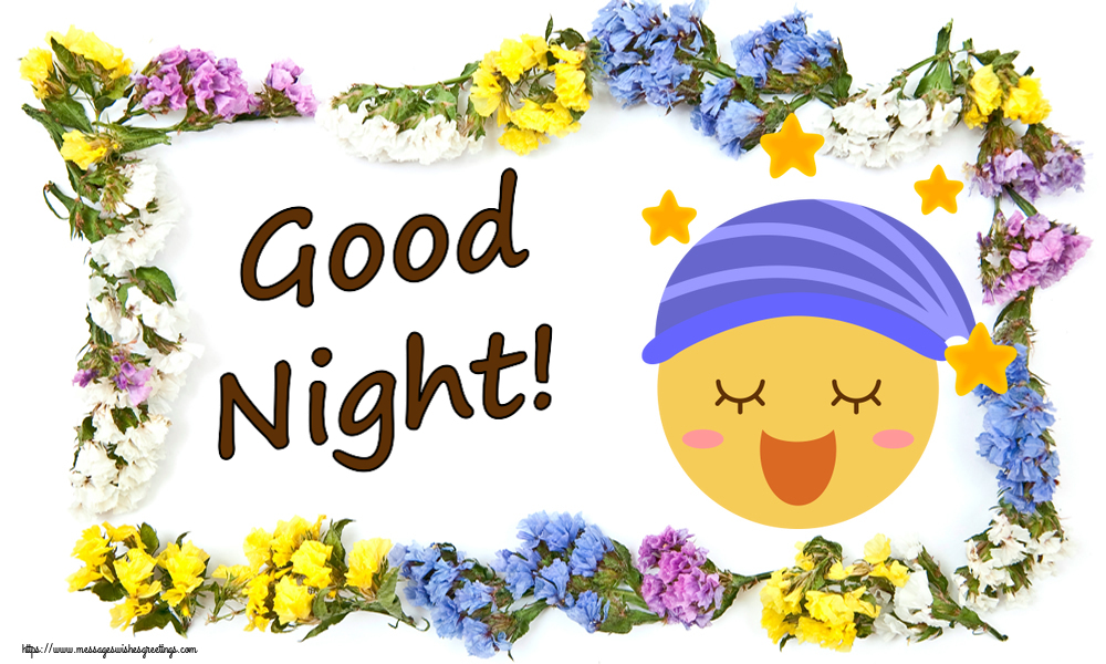 Greetings Cards for Good night with emoji - Good Night!
