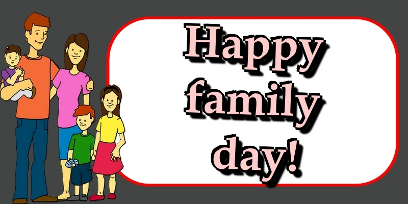 Greetings Cards International Day of Families - Happy family day!