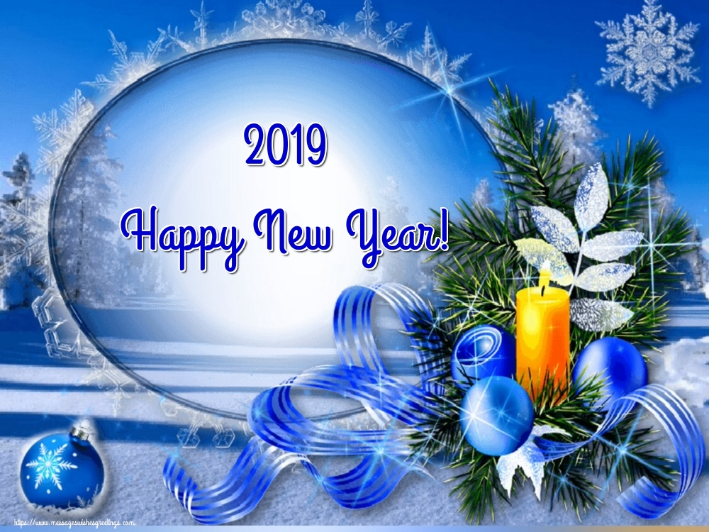 Greetings Cards for New Year - 2019 Happy New Year!