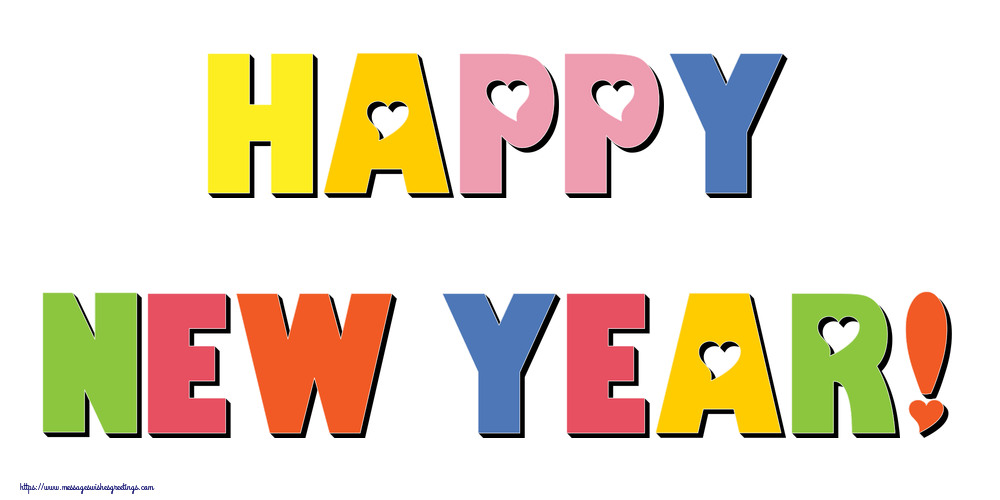 Greetings Cards for New Year - Happy New Year!